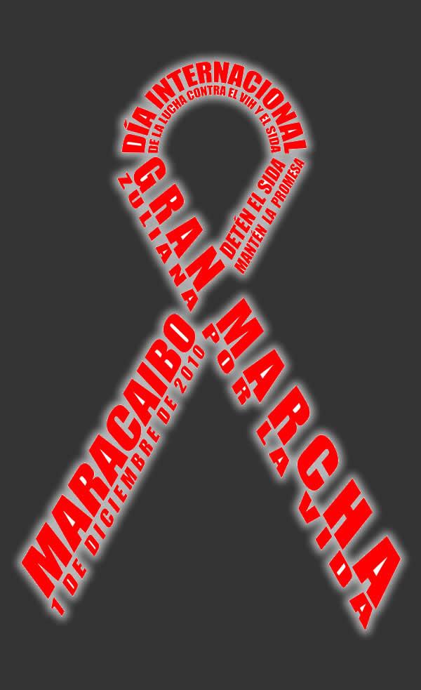 logo del d237a mundial de la lucha contra el sida en maracaibo
