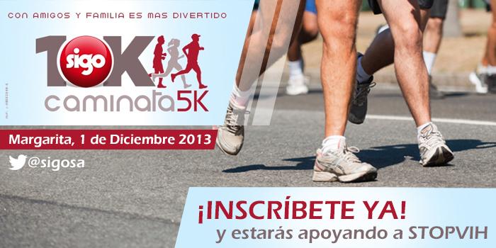 Inscríbete en la carrera Sigo 10K caminata 5K y estarás apoyando a StopVIH